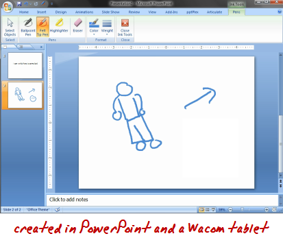 How to PowerPoint - demo of tablet and PowerPoint slide